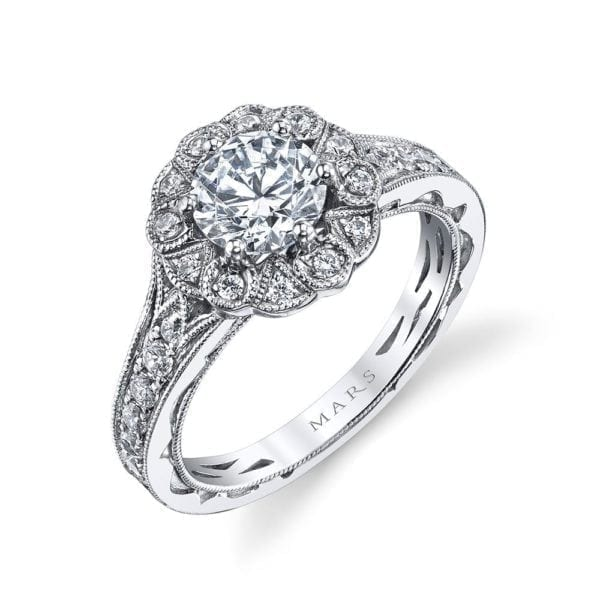 26006 Diamond Engagement Ring, 0.57 Ctw.