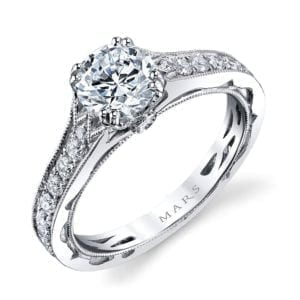 26009 Diamond Engagement Ring 0.51 Ctw.