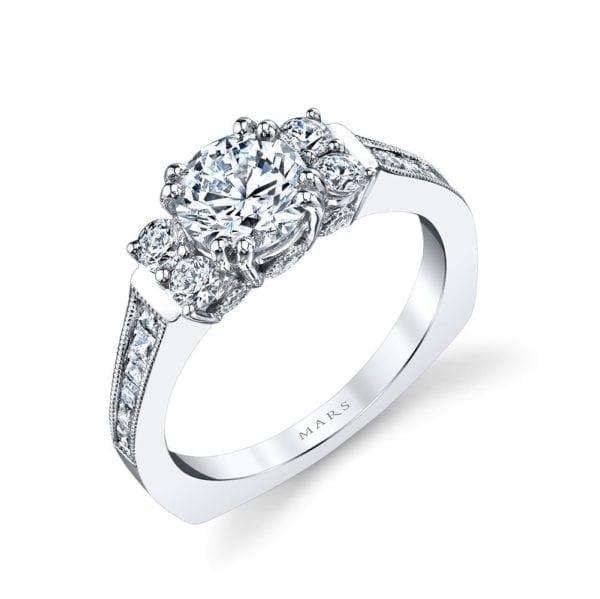 26017 Diamond Engagement Ring 0.66 Ctw.