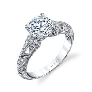 26026 Diamond Engagement Ring, 0.12 Ctw.