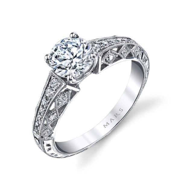 26031 Diamond Engagement Ring 0.19 Ctw.