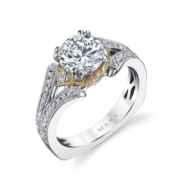 26040TT Diamond Engagement Ring 0.33 Ctw.