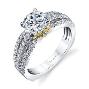 26041TT Diamond Engagement Ring 0.53 Ctw.