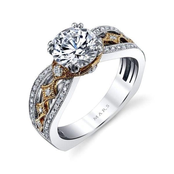 26043TT Diamond Engagement Ring 0.35 Ctw.