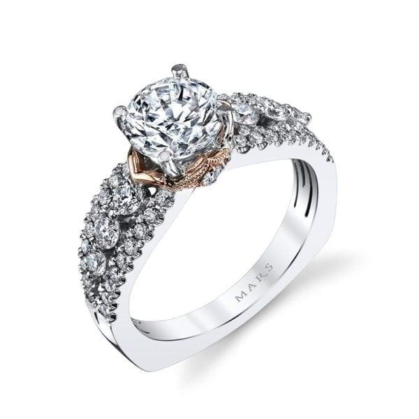 26061TT Diamond Engagement Ring, 0.70 Ctw.