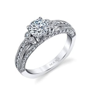 26075 Diamond Engagement Ring, 0.65 Ctw.
