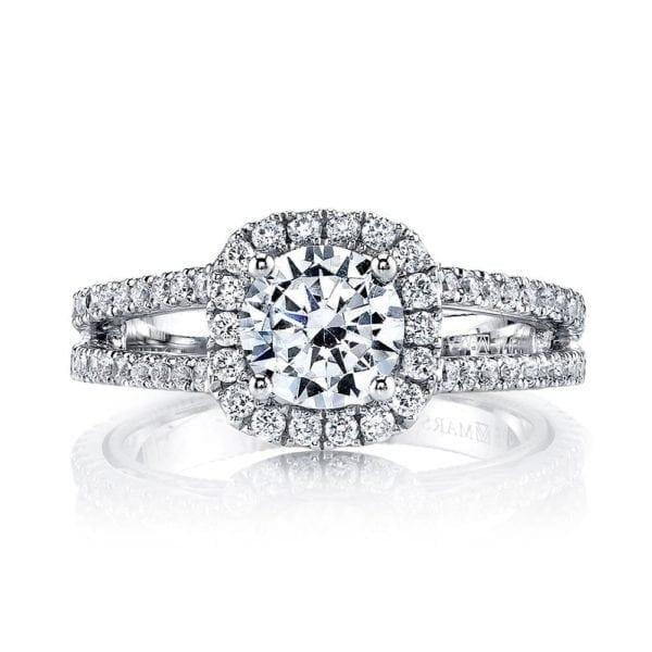 26084 Diamond Engagement Ring, 0.67 Ctw.