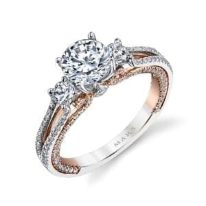 26085TT Diamond Engagement Ring, 0.66 Ctw.
