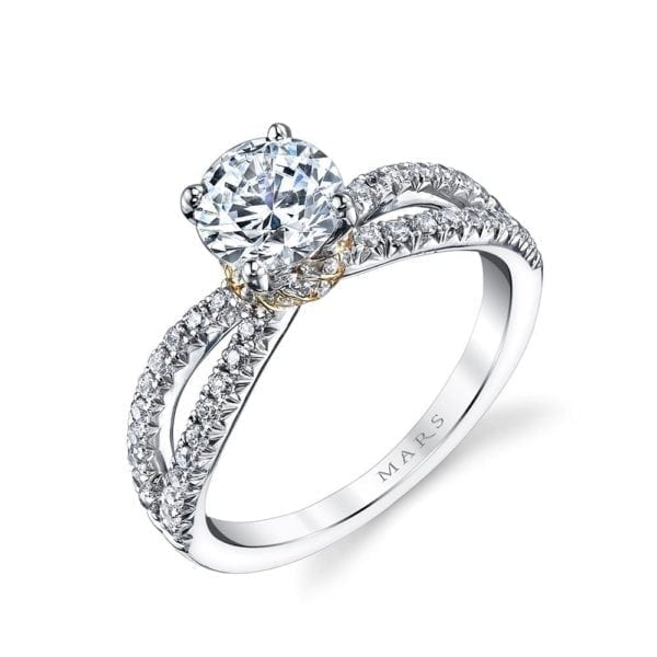 26097TT Diamond Engagement Ring, 0.41 Ctw.