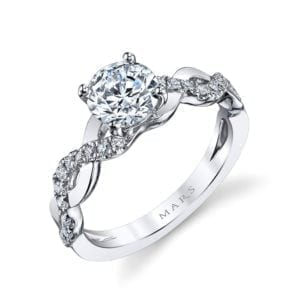 26103 Diamond Engagement Ring, 0.18 Ctw.