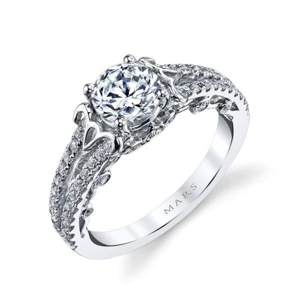 26130 Diamond Engagement Ring, 0.50 Ctw.