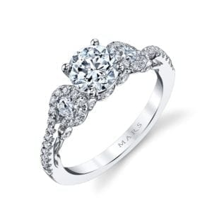 26132 Diamond Engagement Ring, 0.63 Ctw.