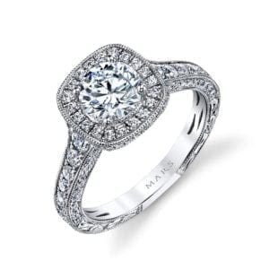 26169 Diamond Engagement Ring 0.82 Ctw.
