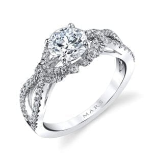 26172 Diamond Engagement Ring 0.39 Ctw.