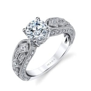 MARS 26177 Diamond Engagement Ring 0.14 Ct Pr, 0.42 Ct Rd.
