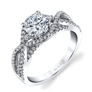 26203 Diamond Engagement Ring 0.58 Ctw.
