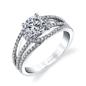 26204 Diamond Engagement Ring 0.44 Ctw.