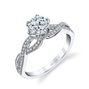 26215 Diamond Engagement Ring 0.21 Ctw.
