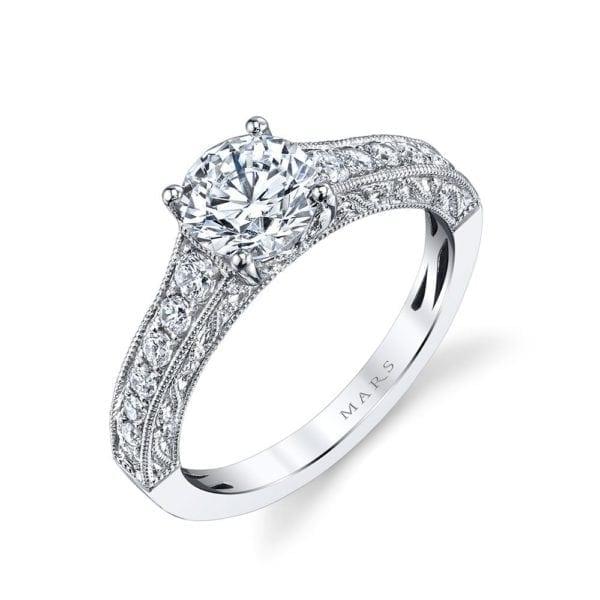 26239 Diamond Engagament Ring 0.33 Ctw.