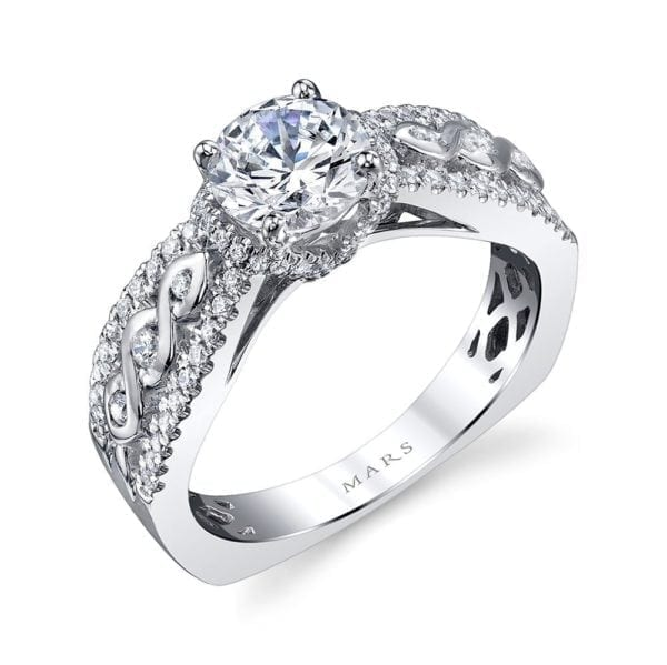 26242 Diamond Engagement Ring 0.33 Ctw.