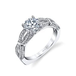 26244 Diamond Engagement Ring 0.27 Ctw.