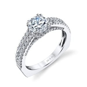 26245 Diamond Engagement Ring 0.55 Ctw.