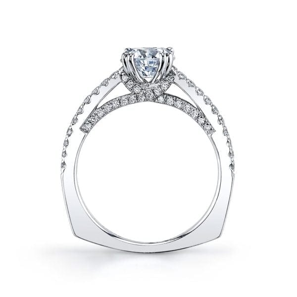26245 Diamond Engagement Ring 0.55 Ctw.