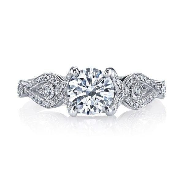 MARS 26249 Diamond Engagement Ring 0.21 Ctw.