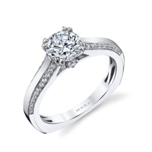 26251 Diamond Engagement Ring 0.21 Ctw.