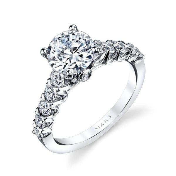 26344 Diamond Engagement Ring 0.63 Ctw.
