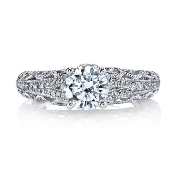 MARS 26431 Diamond Engagement Ring 0.16 Ctw.