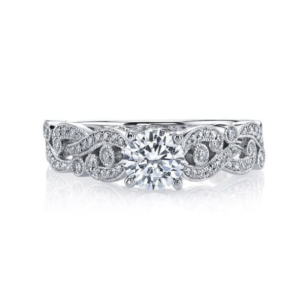 MARS 26440 Diamond Engagement Ring 0.25 Ctw.
