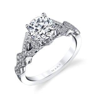 MARS 26442 Diamond Engagement Ring 0.17Ctw.