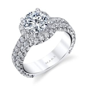 26452 Diamond Engagement Ring 1.70 Ctw.