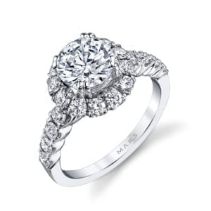 26494 Diamond Engagement Ring 0.93 Ctw.