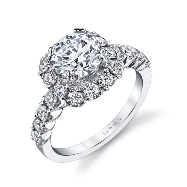25496 Diamond Engagement Ring 0.87 Ctw.