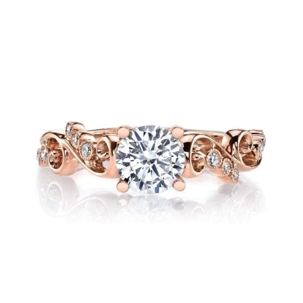 MARS 26506 Diamond Engagement Ring 0.08 Ctw.