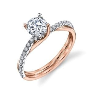 26509 Diamond Engagement Ring 0.17 Ctw.