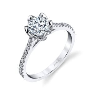 26530 Diamond Engagement Ring 0.18 Ctw.