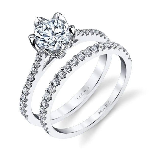 26530 Diamond Engagement Ring 0.18 Ctw.