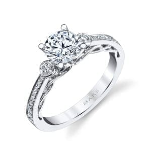 26543 Diamond Engagement Ring 0.17 Ctw.