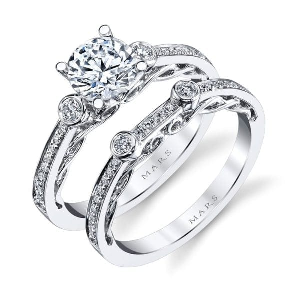 26543 Diamond Engagement Ring 0.17 Ctw.