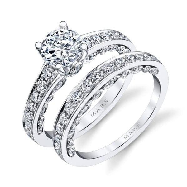 26545 Diamond Engagement Ring 0.50 Ctw.