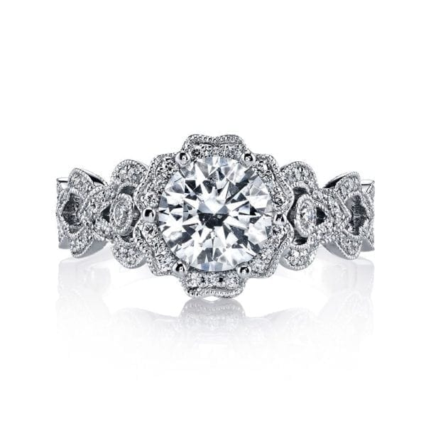 MARS 26593 Diamond Engagement Ring 0.38 Ctw.