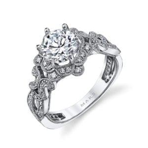 MARS 26594 Diamond Engagement Ring 0.38 Ctw.