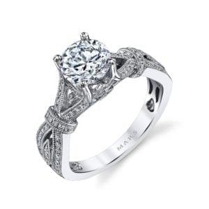 MARS 26695 Diamond Engagement Ring 0.24 Ctw.