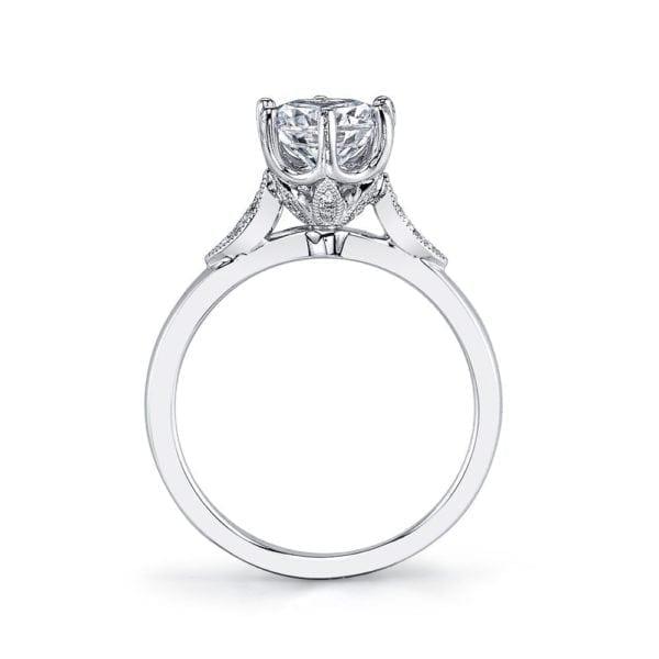 MARS 26698 Diamond Engagement Ring 0.10 Ctw.