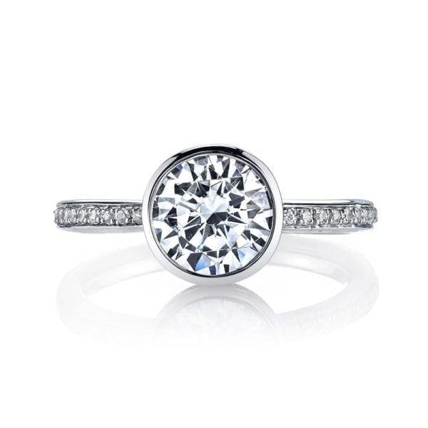 26702D Diamond Engagement Ring 0.12 Ctw.
