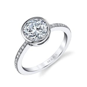 26702D Diamond Engagement Ring 0.12 Ctw.