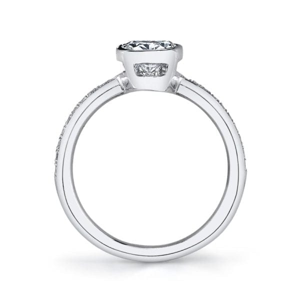 26703D Diamond Engagement Ring 0.12 Ctw.